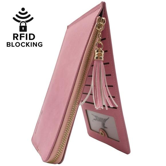 6216fe85f3d9 Women's RFID Blocking Bifold Multi Card Organizer Boutique